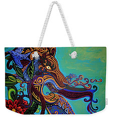 Lion Gargoyle Weekender Tote Bag by Genevieve Esson