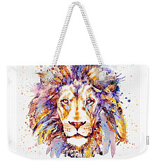 Lion Head Weekender Tote Bag by Marian Voicu