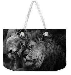 Lion In Love 2 Weekender Tote Bag