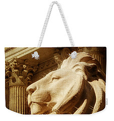 Lion In The Sun Weekender Tote Bag by Jon Woodhams