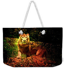 Lion In The Wilderness Weekender Tote Bag by Annie Zeno