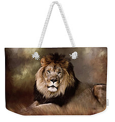 Lion King Of The Jungle Weekender Tote Bag by TnBackroadsPhotos