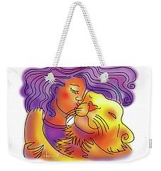 Lion Kiss Weekender Tote Bag