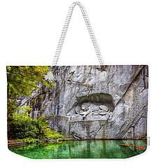 Lion Of Lucerne Weekender Tote Bag