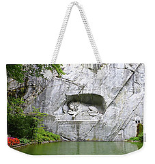 Lion Of Lucerne Weekender Tote Bag by Joseph Hendrix