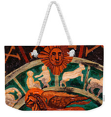 Weekender Tote Bag featuring the painting Lion Of St. Mark by Genevieve Esson