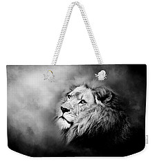 Lion - Pride Of Africa II - Tribute To Cecil In Black And White Weekender Tote Bag