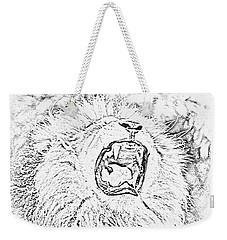 Lion Roar Drawing Weekender Tote Bag