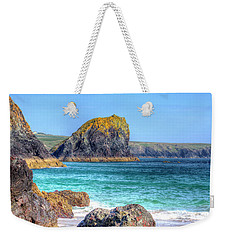 Lion Rock From Kynance Cove Weekender Tote Bag