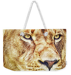Lion-the King Of The Jungle Large Canvas Art, Canvas Print, Large Art, Large Wall Decor, Home Decor Weekender Tote Bag