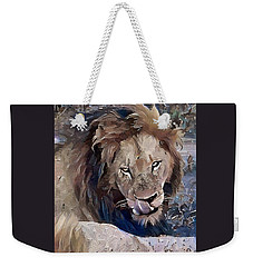 Lion With Tongue Weekender Tote Bag