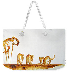 Lioness And Cubs Small - Original Artwork Weekender Tote Bag