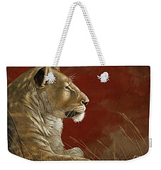 Lioness In The Shade Weekender Tote Bag