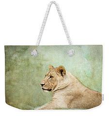 Lioness Portrait II Weekender Tote Bag