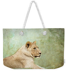 Lioness Portrait Weekender Tote Bag by Wade Brooks