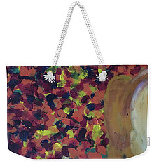Weekender Tote Bag featuring the painting Lioness' Pride 2 Of 6 by Donald J Ryker III