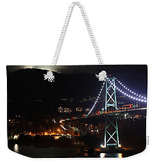 Lions Gate Bridge And Grouse Mountain Weekender Tote Bag