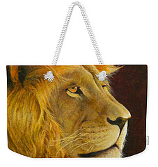 Lion's Gaze Weekender Tote Bag