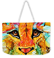 Lion's Head Gold Weekender Tote Bag