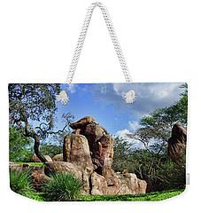 Lions On The Rock Weekender Tote Bag by B Wayne Mullins