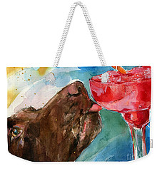 Lip Smack Daq Weekender Tote Bag by Molly Poole