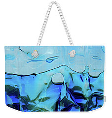 Weekender Tote Bag featuring the photograph Liquid Abstract  #0059 by Barbara Tristan