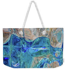 Weekender Tote Bag featuring the photograph Liquid Abstract  #0060 by Barbara Tristan