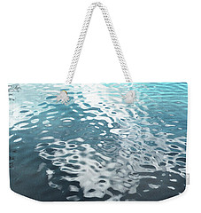 Weekender Tote Bag featuring the photograph Liquid Blue by Rebecca Harman