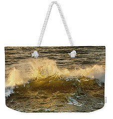 Weekender Tote Bag featuring the photograph Liquid Sunbeam by Mary Jo Allen