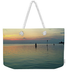 Weekender Tote Bag featuring the photograph Liquid Sunset by Anne Kotan