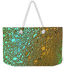 Liquid Turquoise Gold Weekender Tote Bag by Bruce Pritchett