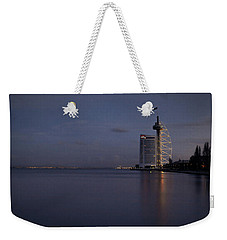 Lisbon Night Scene Weekender Tote Bag by Marion McCristall