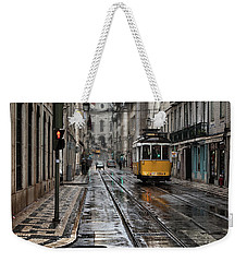 Weekender Tote Bag featuring the photograph Lisbon Streets by Jorge Maia