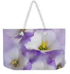 Weekender Tote Bag featuring the photograph Lisianthus Grouping by David and Carol Kelly