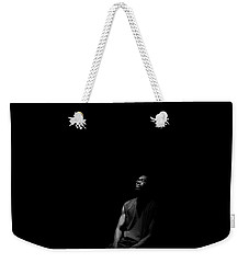 Weekender Tote Bag featuring the photograph Listen by Eric Christopher Jackson