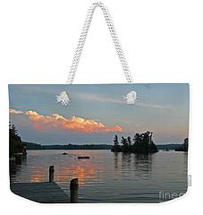 Little Bald Lake Weekender Tote Bag by Barbara McMahon