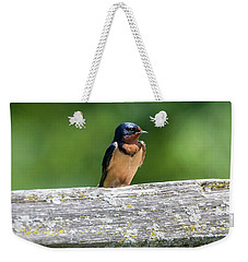 Weekender Tote Bag featuring the photograph Little Barn Swallow by Ricky L Jones