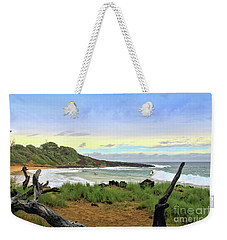 Weekender Tote Bag featuring the photograph Little Beach by DJ Florek