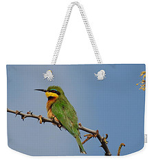 Weekender Tote Bag featuring the photograph Little Bee-eater by Betty-Anne McDonald