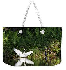Little Blue Heron Non-impressed Weekender Tote Bag
