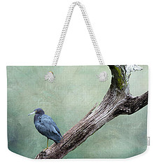 Little Blue Heron On Green Weekender Tote Bag