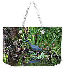 Weekender Tote Bag featuring the photograph Little Blue Heron by Sandy Keeton