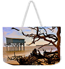 Weekender Tote Bag featuring the photograph Little Blue Hunting Island State Park Beaufort Sc by Lisa Wooten