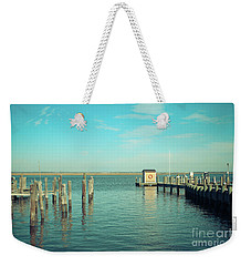 Weekender Tote Bag featuring the photograph Little Boat House On The River by Colleen Kammerer