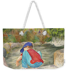Little Boy At Japanese Garden Weekender Tote Bag