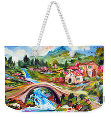 Little Bridge And Country Farm Weekender Tote Bag