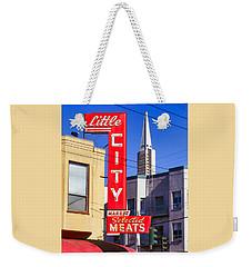 Little City Market North Beach San Francisco Weekender Tote Bag