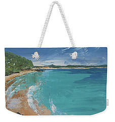 Weekender Tote Bag featuring the painting Little Cove View by Chris Hobel