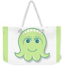 Little Cute Green Octopus Weekender Tote Bag