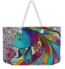 Little Fish 3 Weekender Tote Bag by Megan Walsh